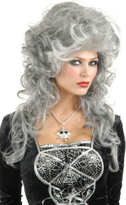 Silver Glam Witch Adult Wig