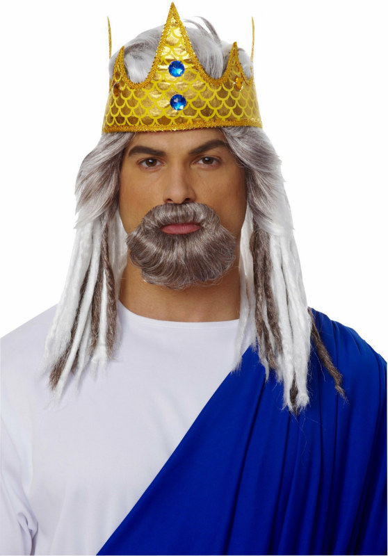 King of the Sea Wig and Beard Adult