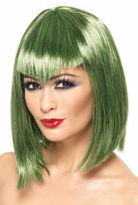 Vamp (Green) Adult Wig