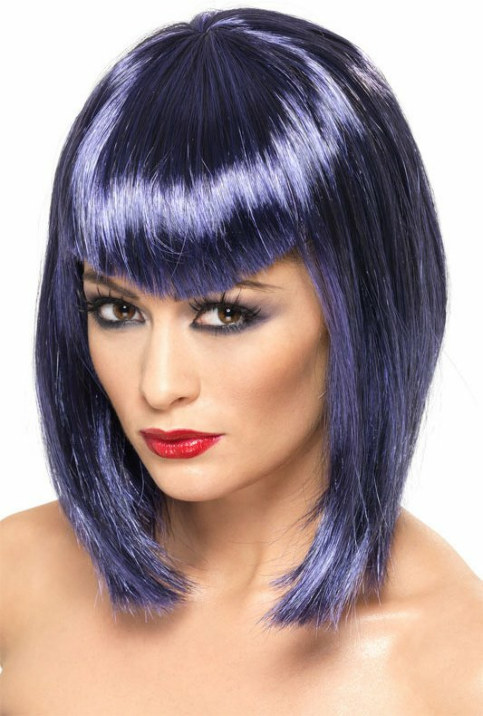 Vamp (Purple) Adult Wig