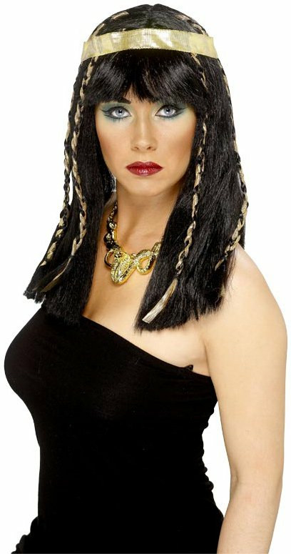 Egyptian With Gold Headband Adult Wig