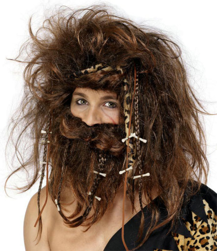 Caveman Wig With Beard Adult