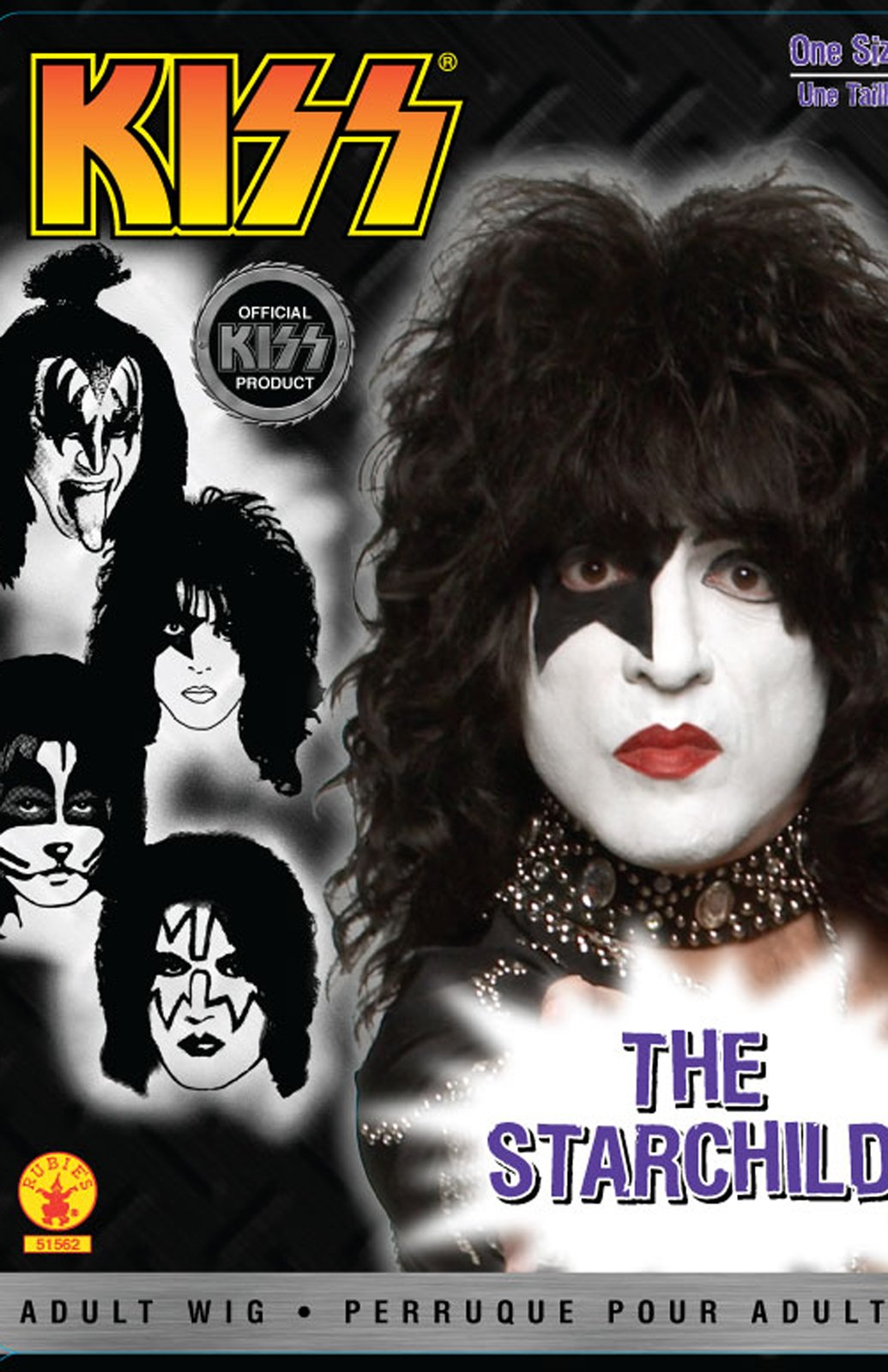 KISS - Starchild Adult Wig