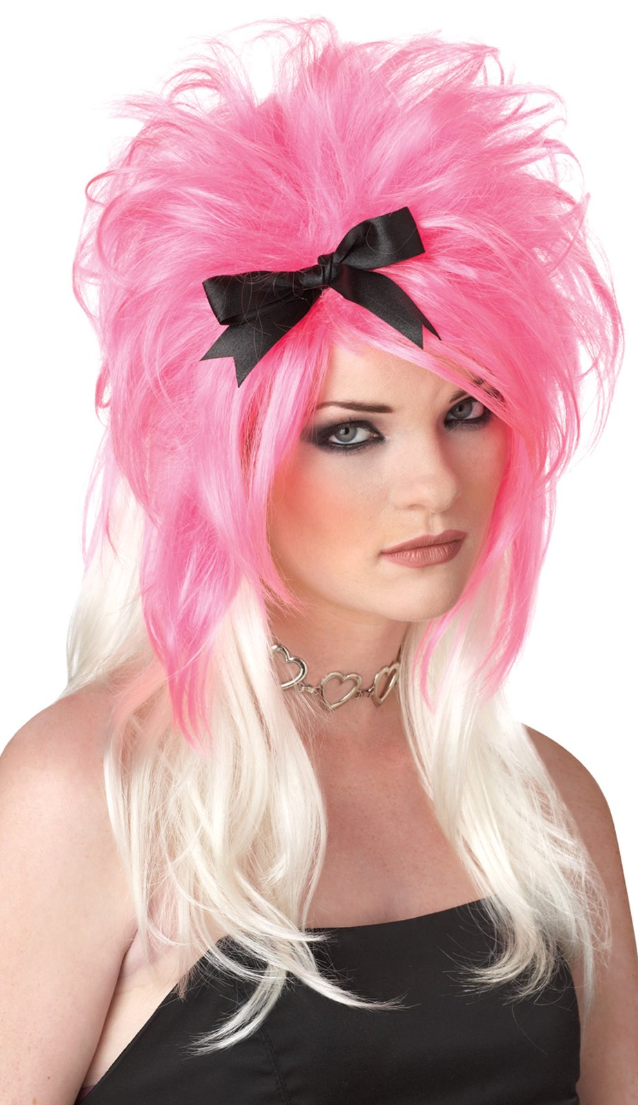 Get Over It (Pink / White) Adult Wig
