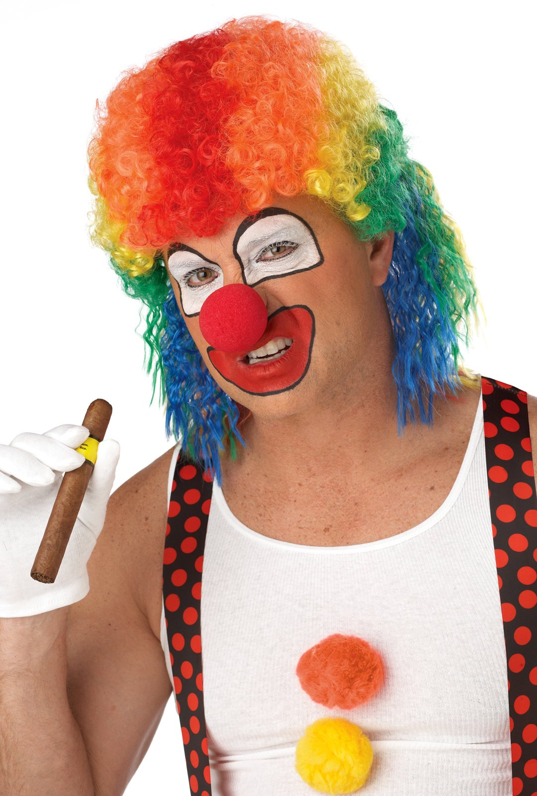 Clown Mullet Adult Wig