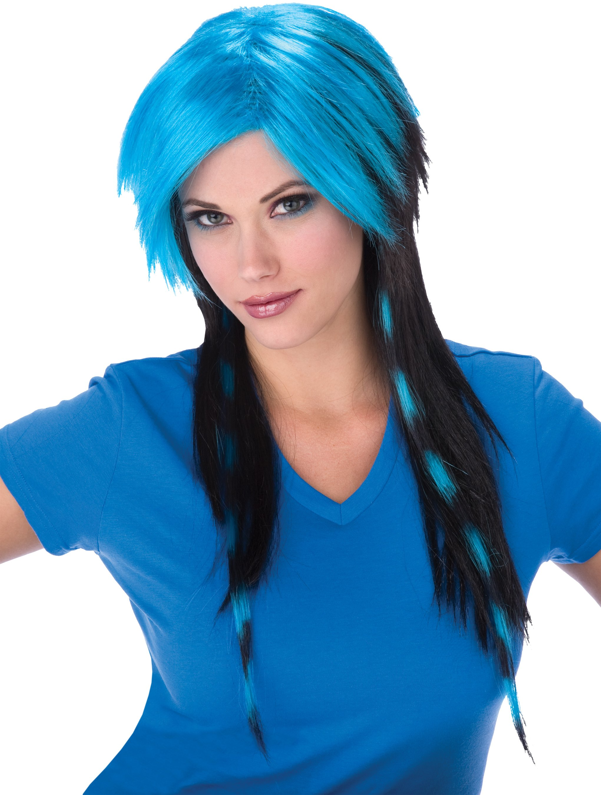 Blue Raccoon Tail Adult Wig