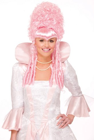 Historical Pink Wig Adult