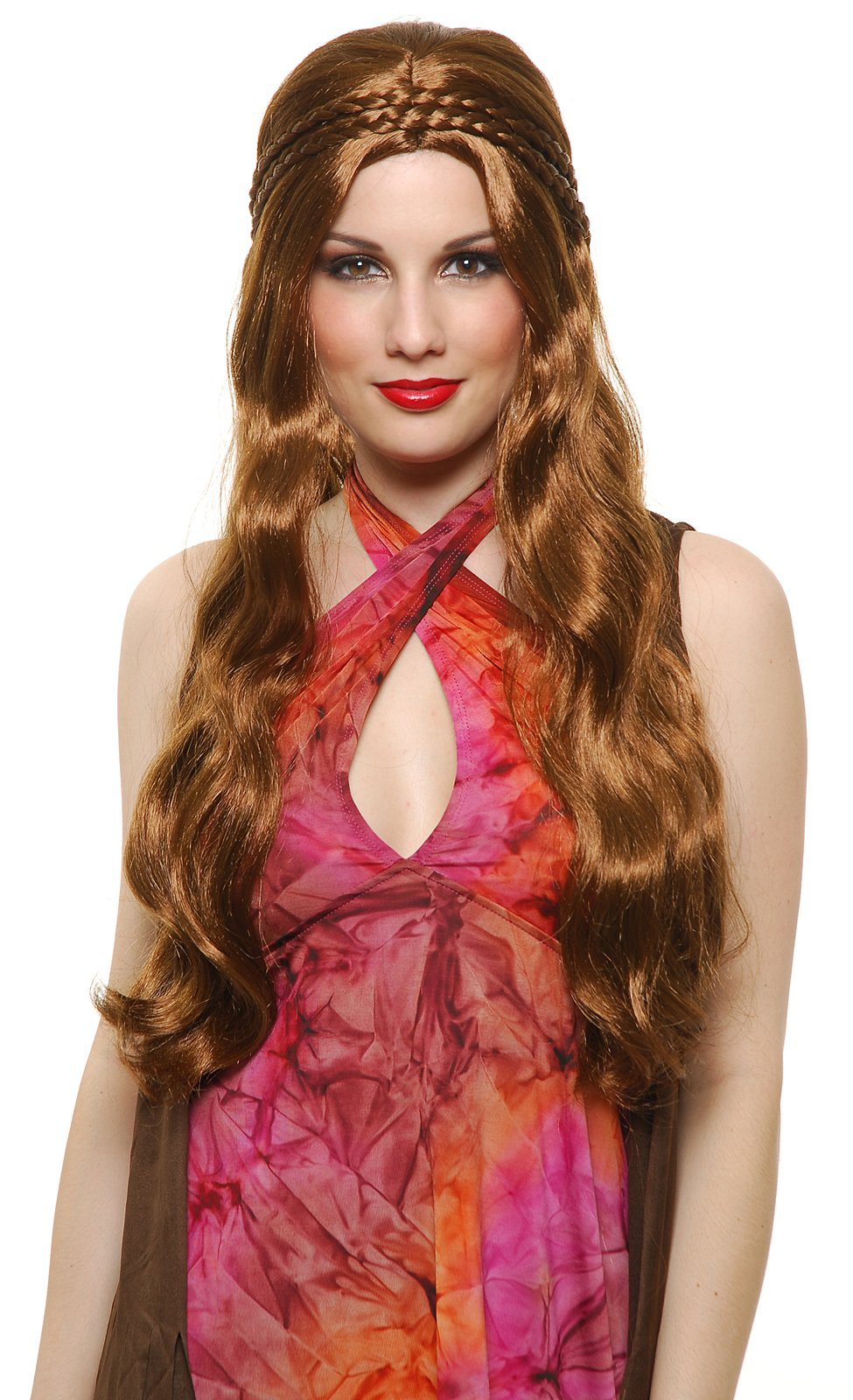 Brown Flower Child Wig (Adult)
