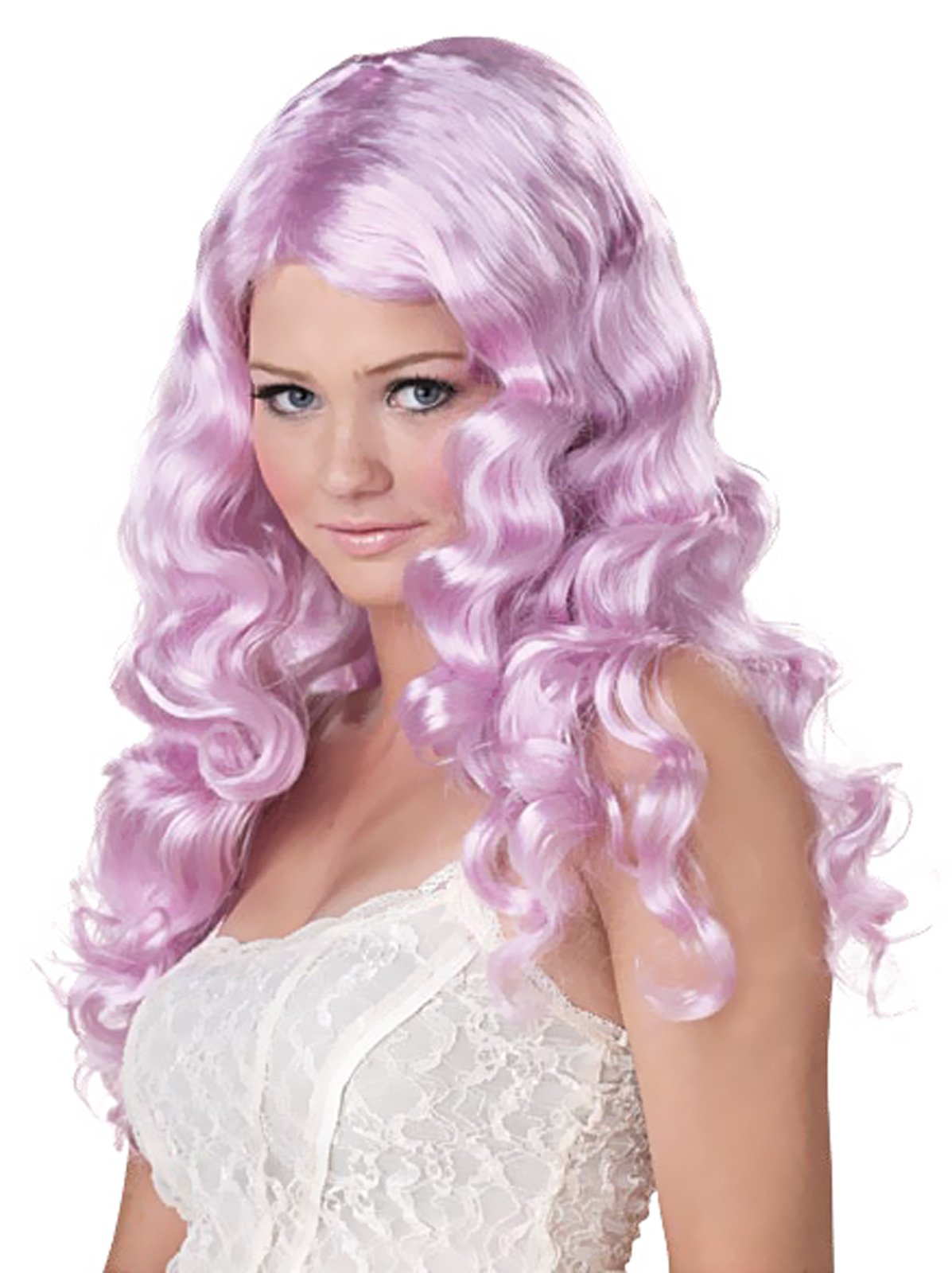 Sweet Tart (Lavender) Adult Wig - Click Image to Close
