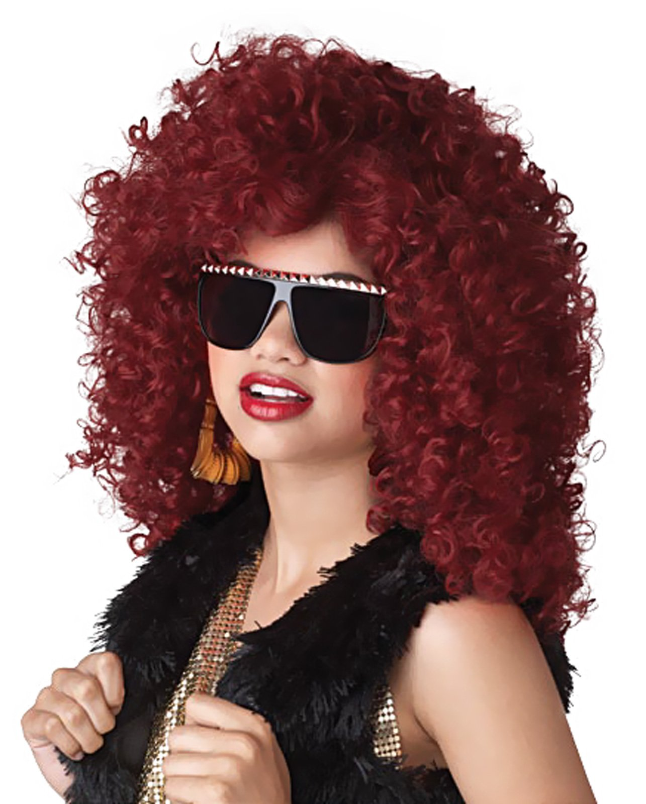 Dancehall Diva (Red) Adult Wig