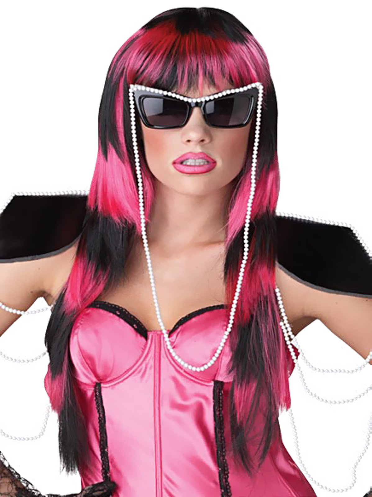 Untamed (Black/Pink) Adult Wig