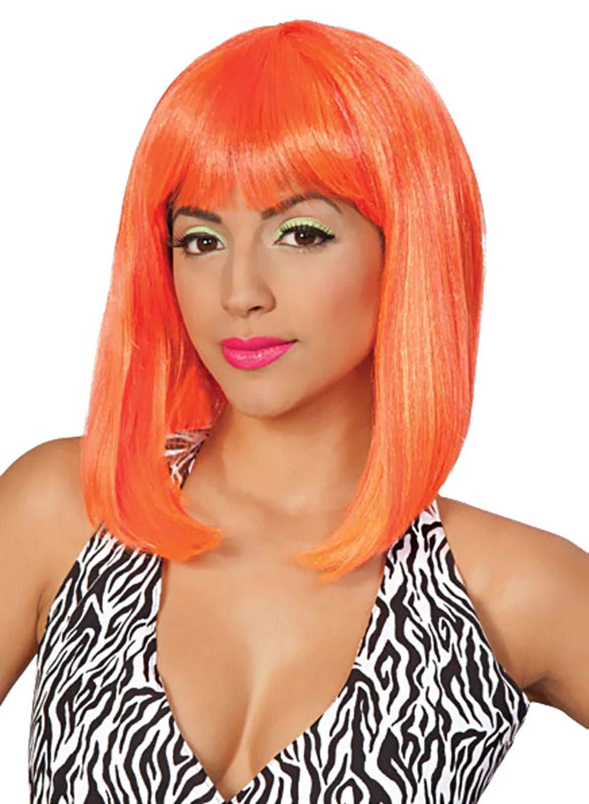 Tropical Flava (Orange) Adult Wig