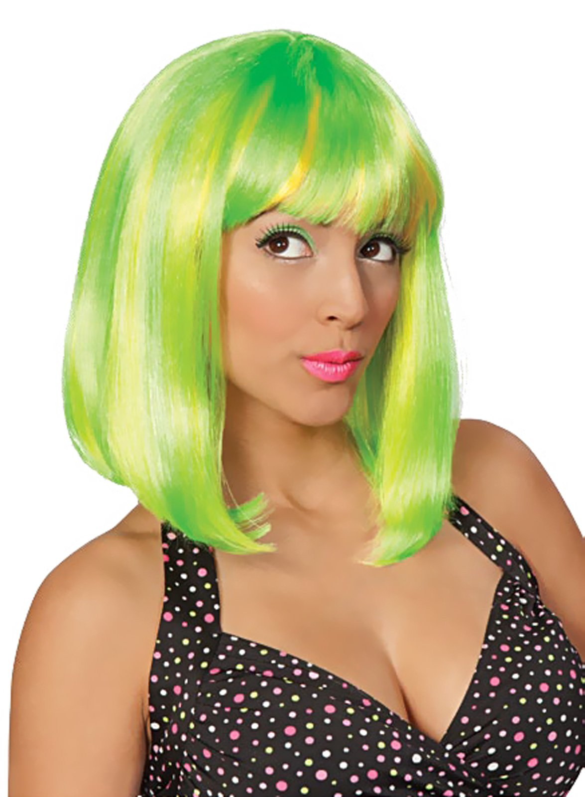 Tropical Flava (Green) Adult Wig - Click Image to Close