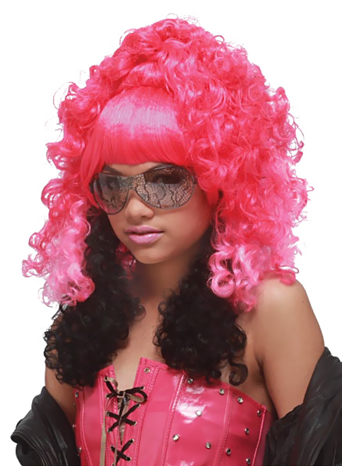 Rap Princess (Pink/Black) Adult Wig