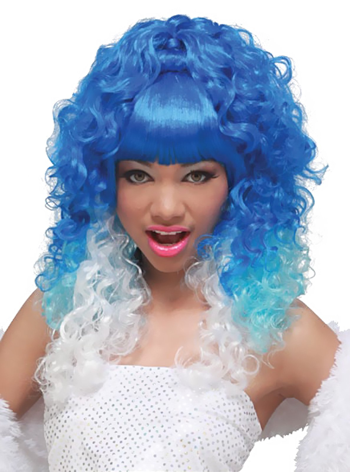Rap Princess (Blue/White) Adult Wig