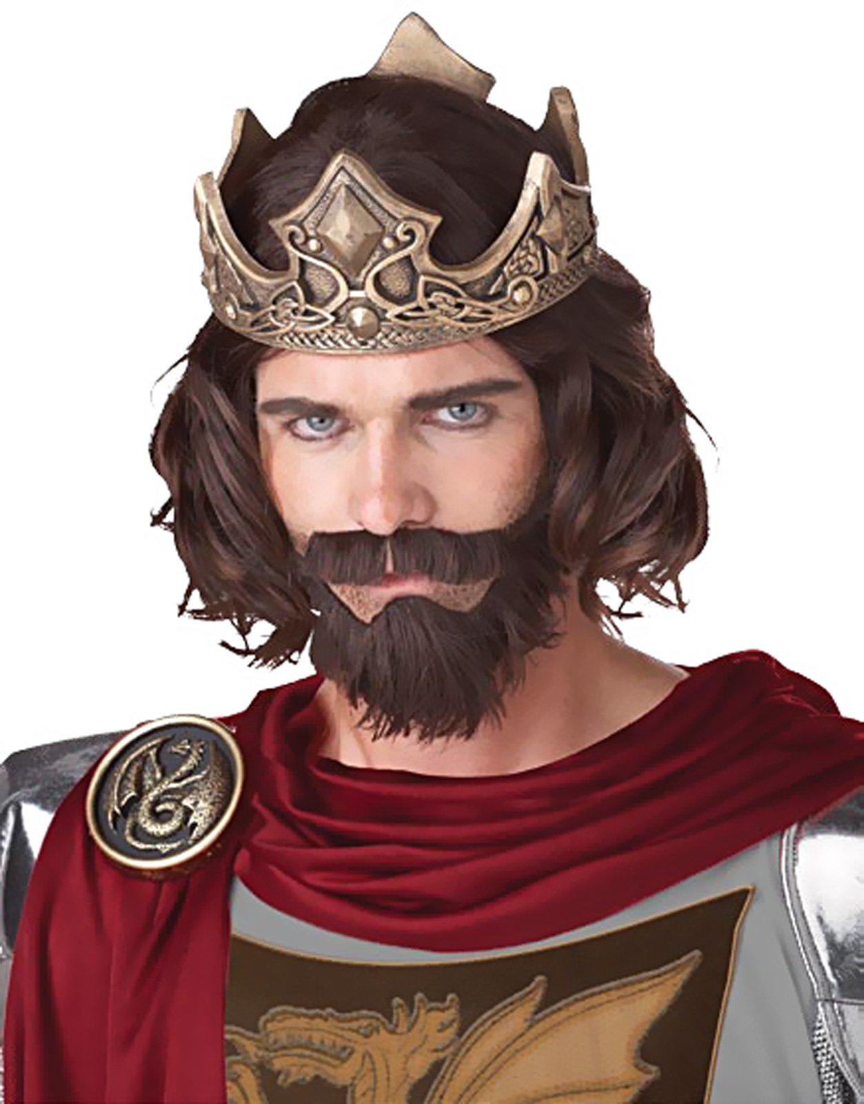 Medieval King (Brown) Adult Wig