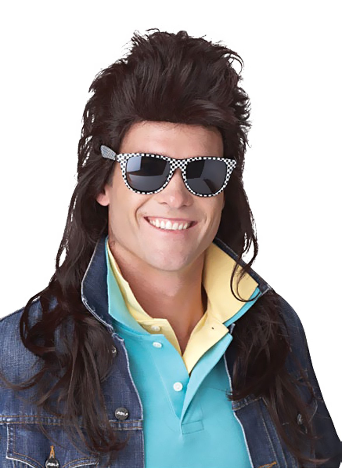 80's Rock Mullet (Brown) Adult Wig
