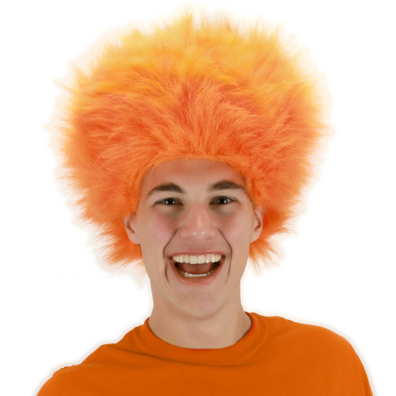 Fuzzy Orange Adult Wig