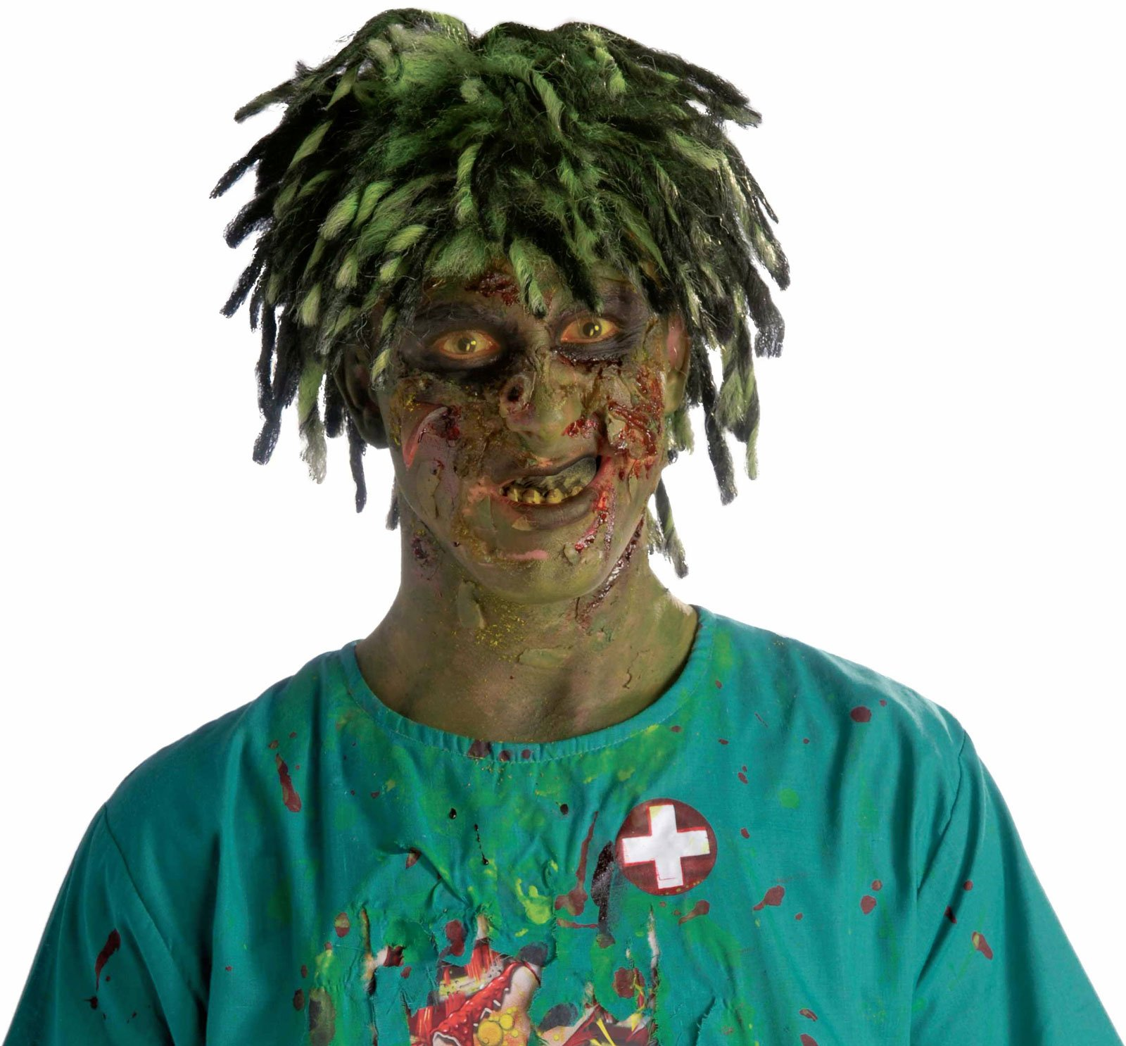 Biohazard Zombie Contaminated Adult Wig - Click Image to Close