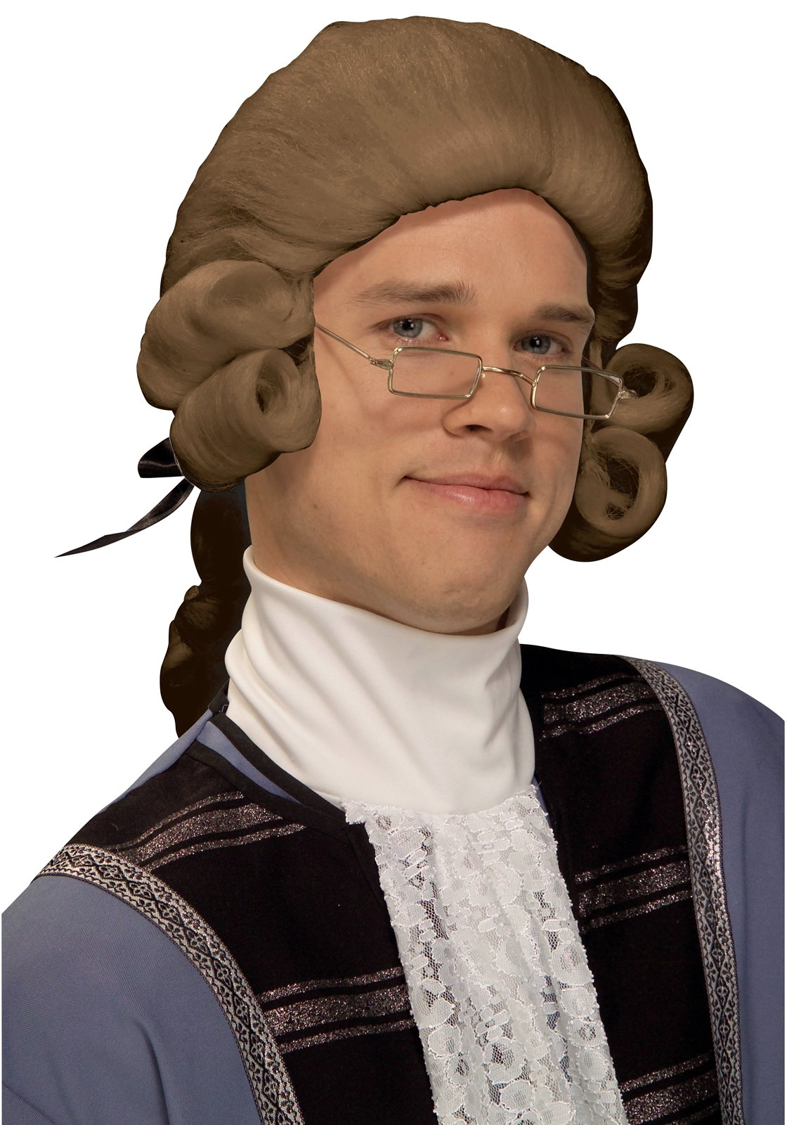 Men's Colonial Adult Wig (Brown)