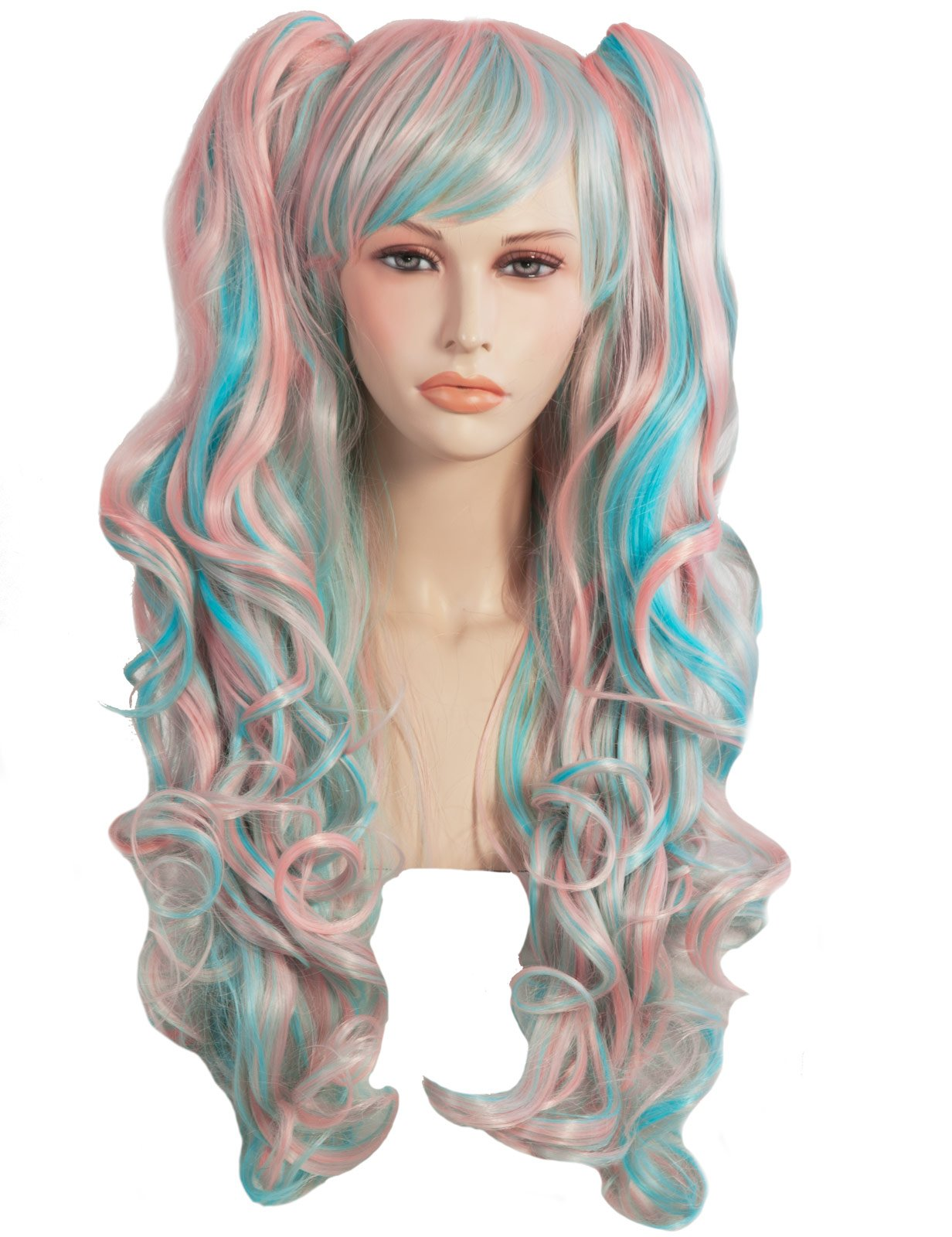 Blue And Pink Cosplay Adult Wig