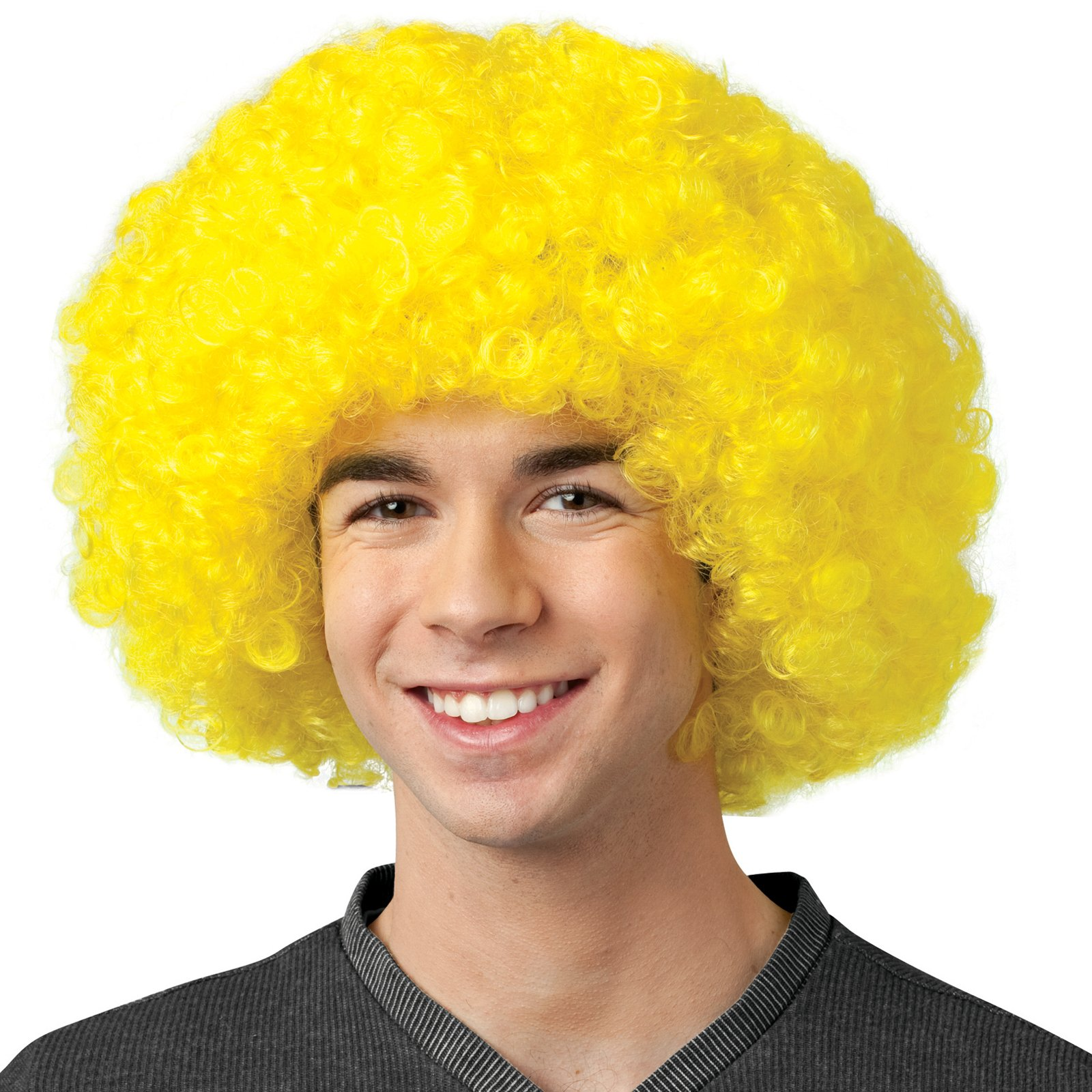 Crayola - Yellow Afro Adult Wig