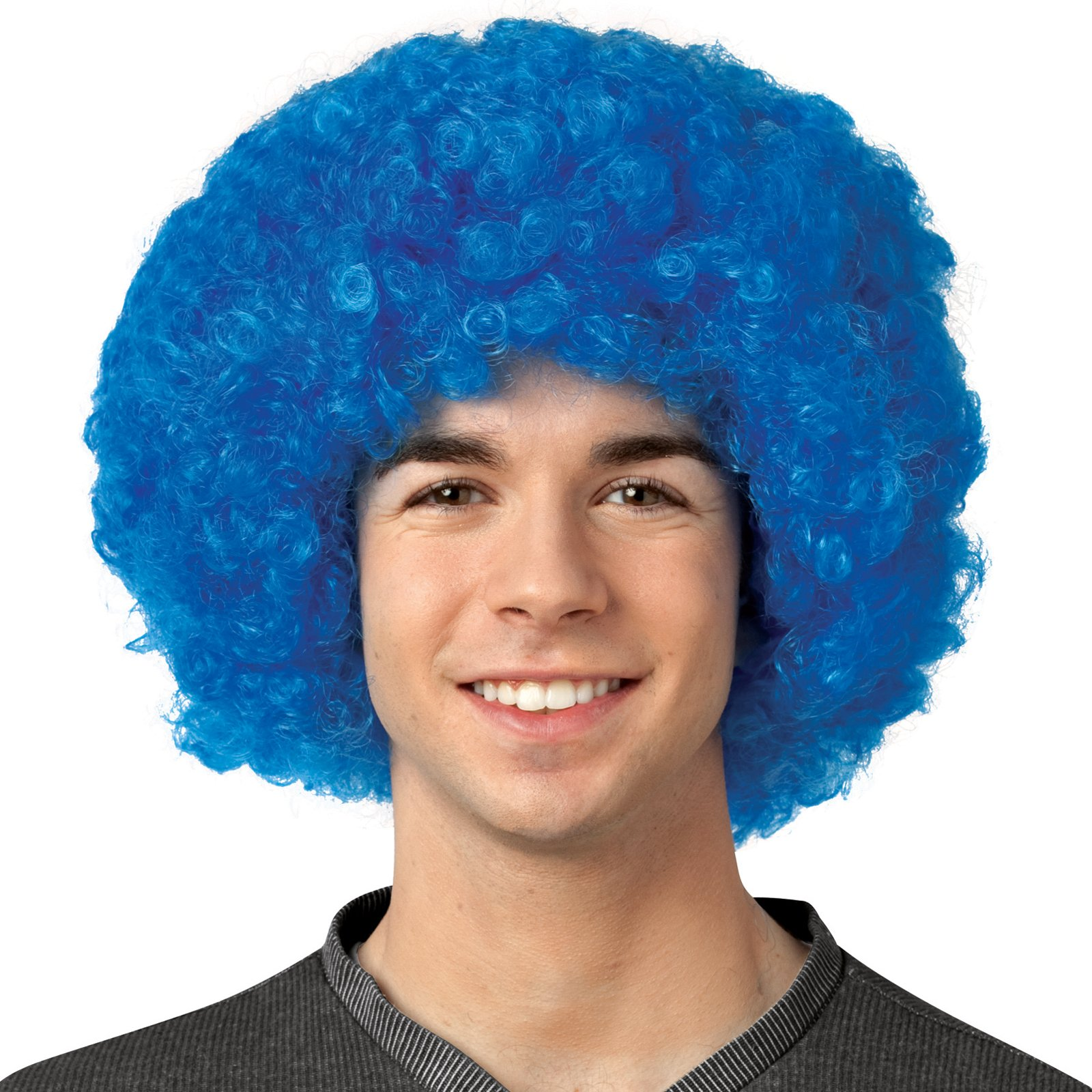 Crayola - Blue Afro Adult Wig