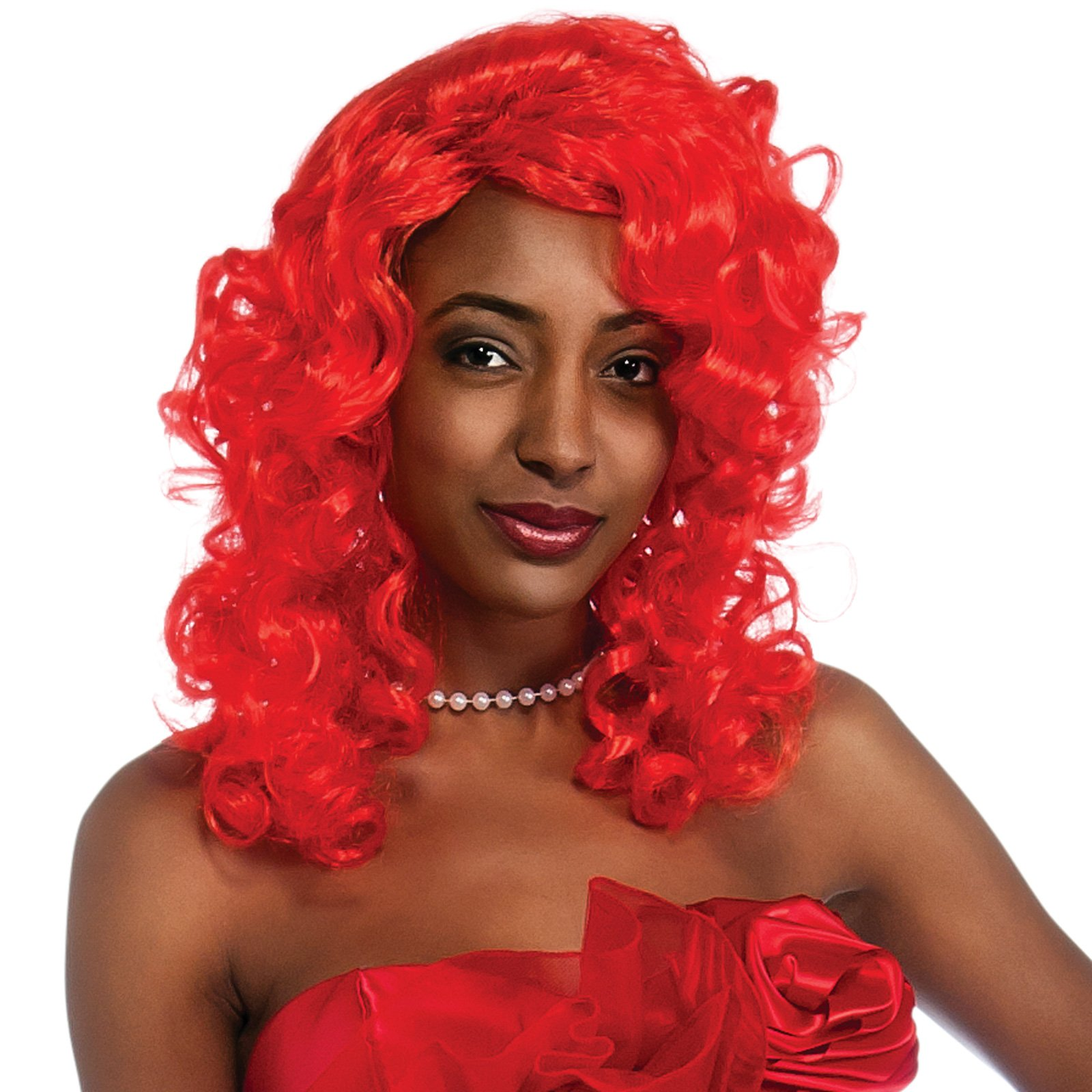 Rihanna Red Adult Wig