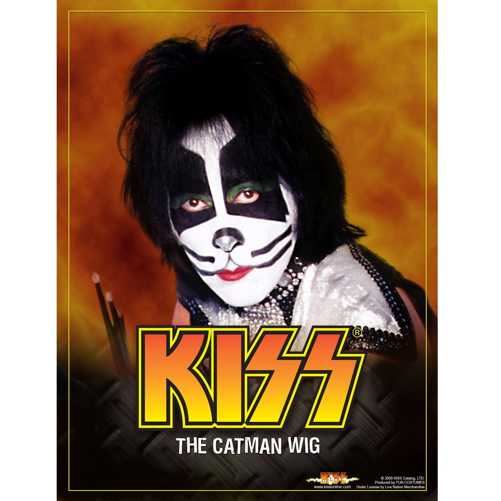 KISS Catman Wig (Adult)