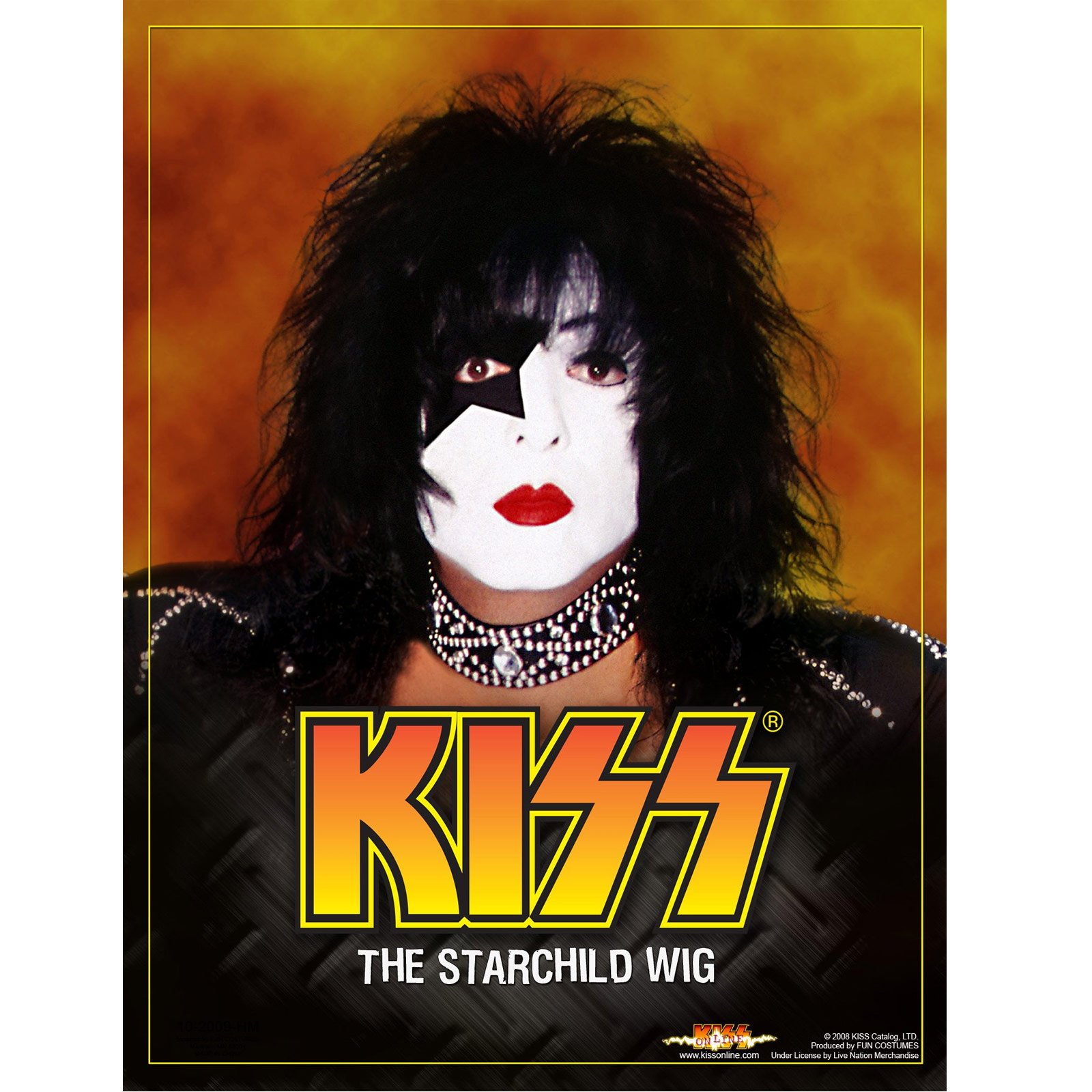 KISS Starchild Wig (Adult)