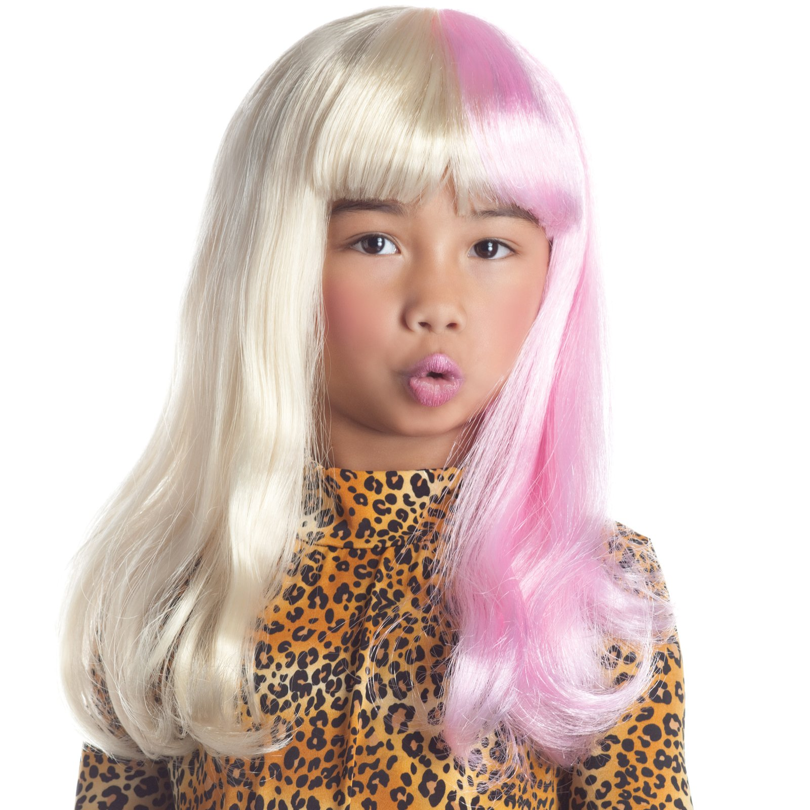 Two Tone Diva Blonde / Pink Child Wig