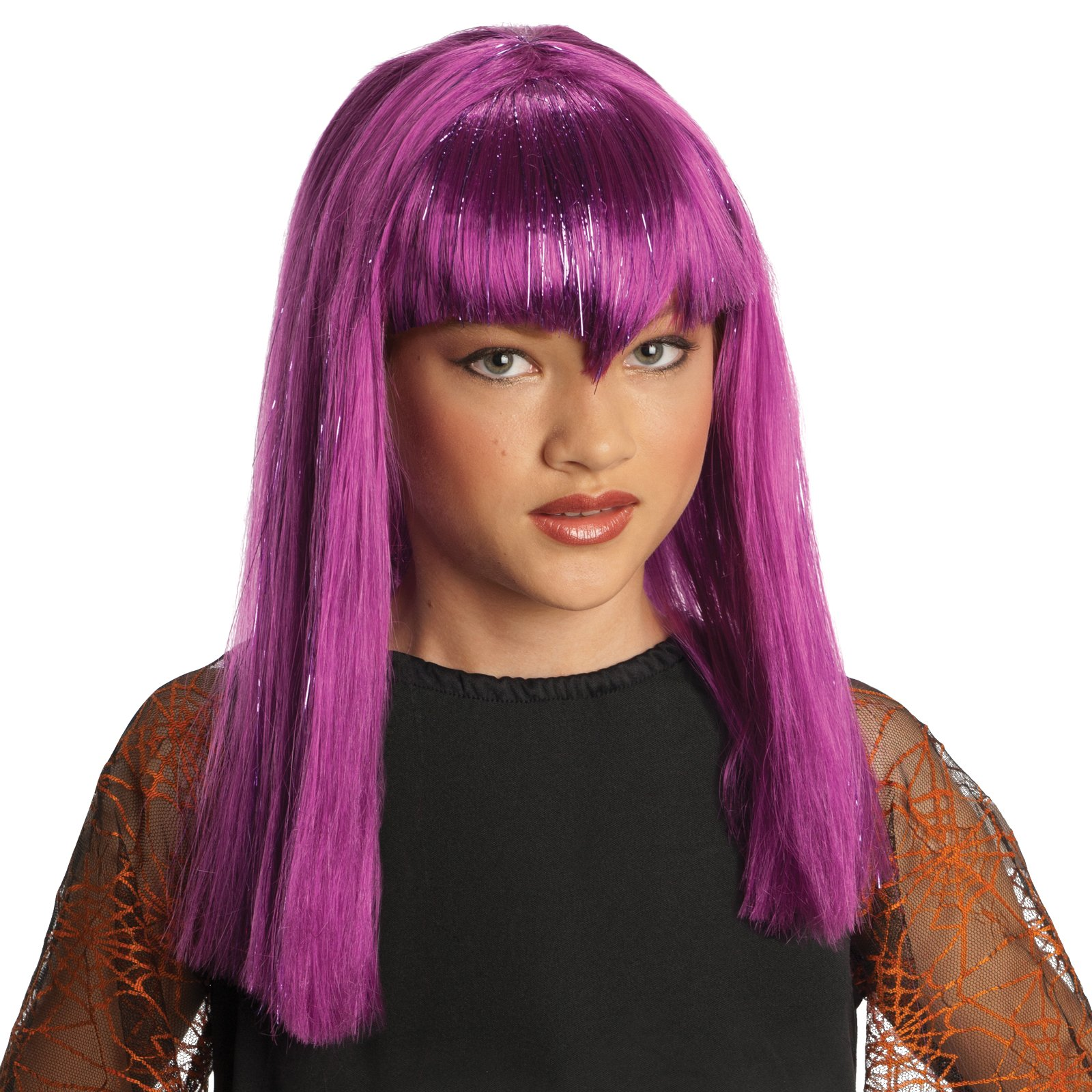 Glitter Vamp Purple Child Wig