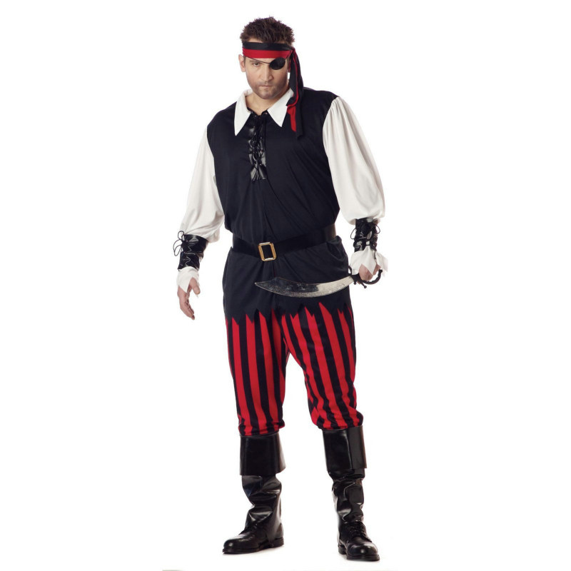 Cutthroat Pirate Plus Adult Costume