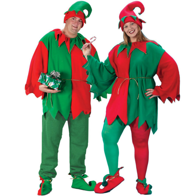 Elf Tunic/Hat/Shoe Costume Kit Plus Adult Costume