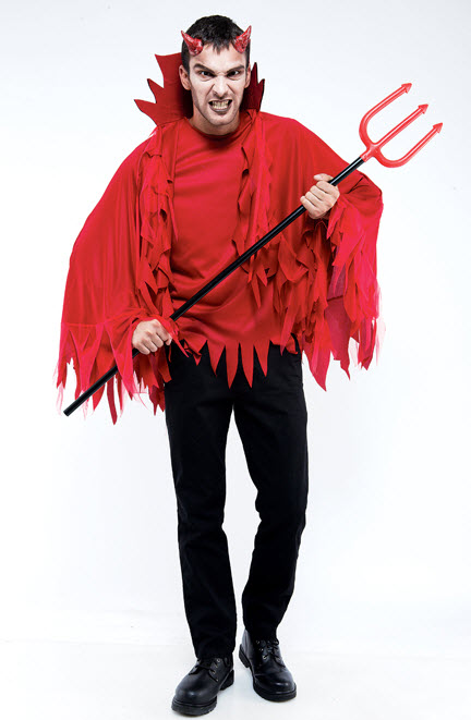 Unisex Red Devil Cape