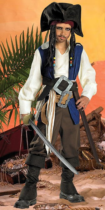Pirates of the Caribbean Jack Sparrow Child Costume