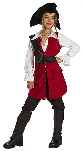 Kid's Elizabeth Swann Pirate Costume