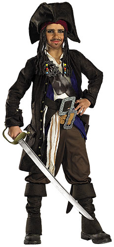 Prestige Captain Jack Sparrow Teen Costume