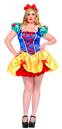 Plus Size Fairytale Snow White Costume