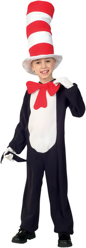 Cat in the Hat Child-Movie Style Costume