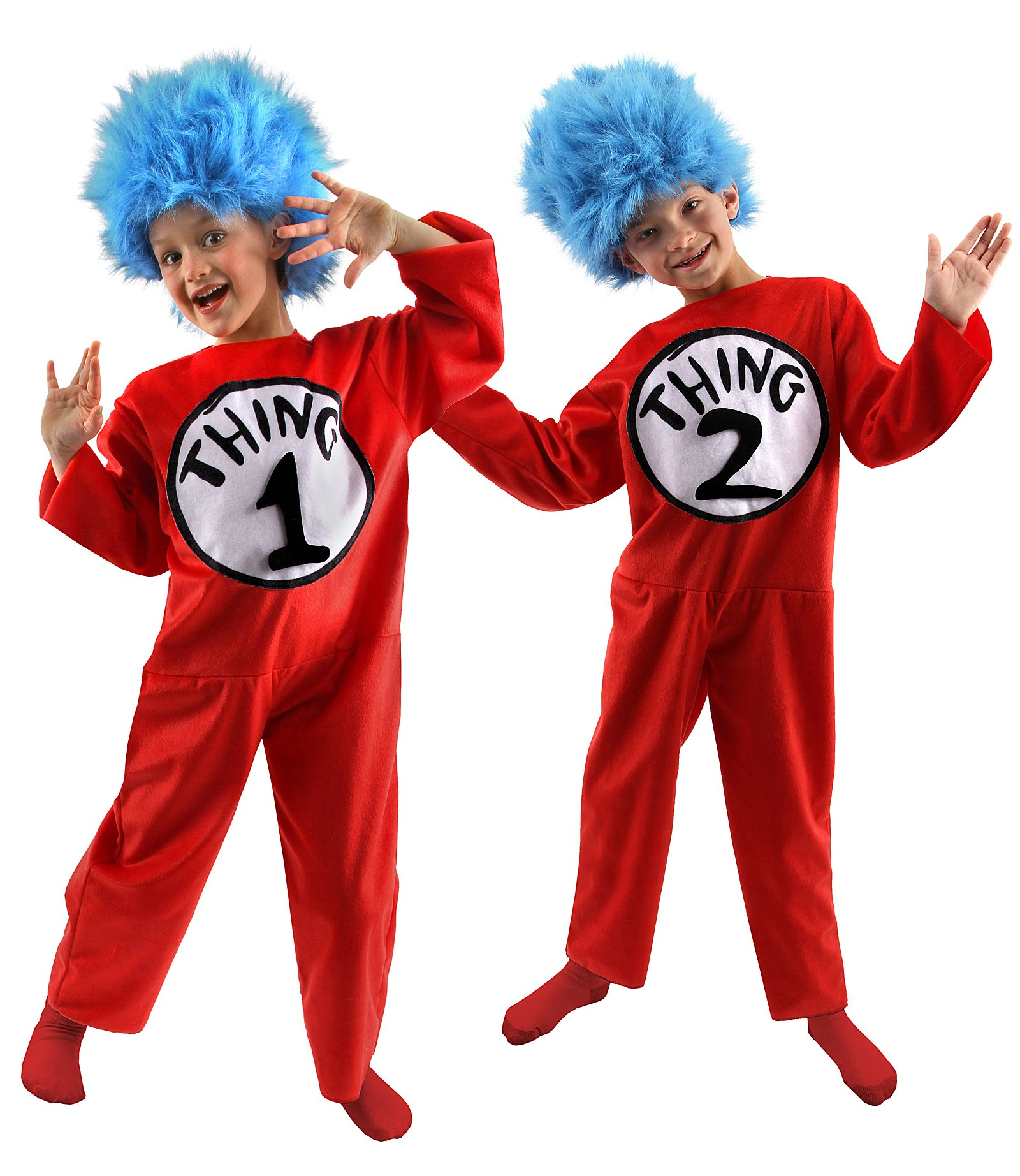 Dr. Seuss The Cat in the Hat - Thing 1 and Thing 2 Child Costume