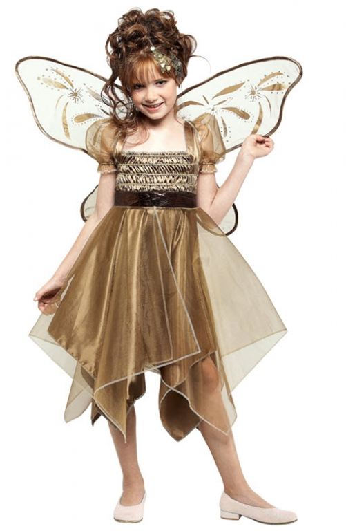 Metallic Copper Fairy Child Costume Small