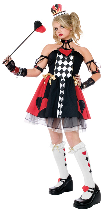 Queen Of Hearts Wonderland Child Costume
