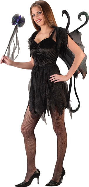 Hot Fairy (Black ) Teen Costume