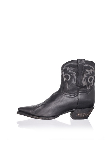 Dan Post Women's Flat Iron Boot (Black)
