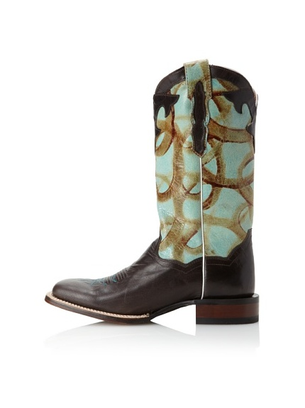 Dan Post Women's Roka Western (Brown/Turquoise)