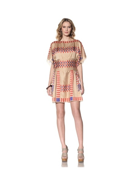 Anna Sui Women's Ikat Printed Dress (Beige)
