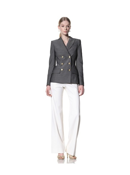Bill Blass Women's Double Breasted Blazer (Black/White)