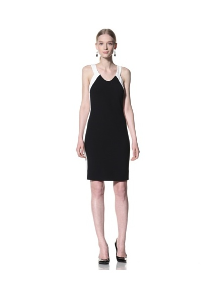 Bill Blass Women's Contrast Halter Dress (Black/White)