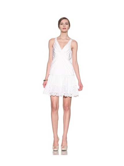 Catherine Malandrino Women's Front Knot Dress (White)